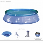 Piscina Splash Fun 14000 L 4,50×1,06m Combo
